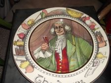 "COLLECTABLE 10.5"" PLATE ROYAL DOULTON THE SQUIRE D6284 SERIES WARE"
